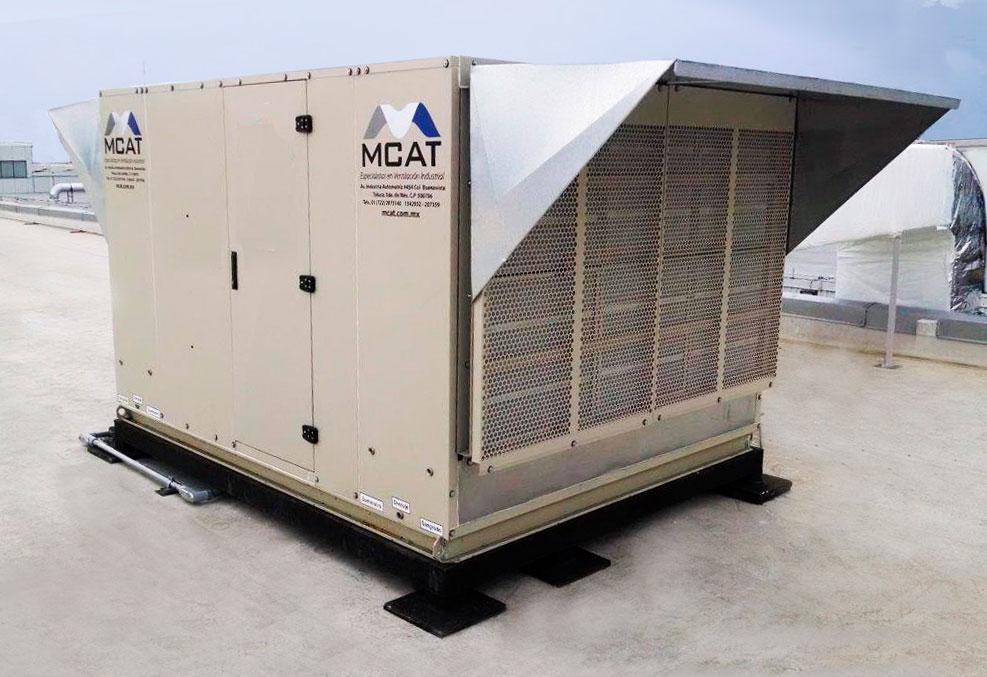 Unidad manejadora para acondicionar el aire industrial