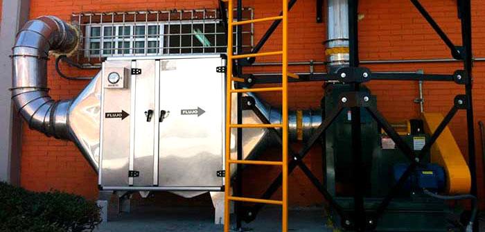 extracción de polvo y humos para la industria aeroespacial