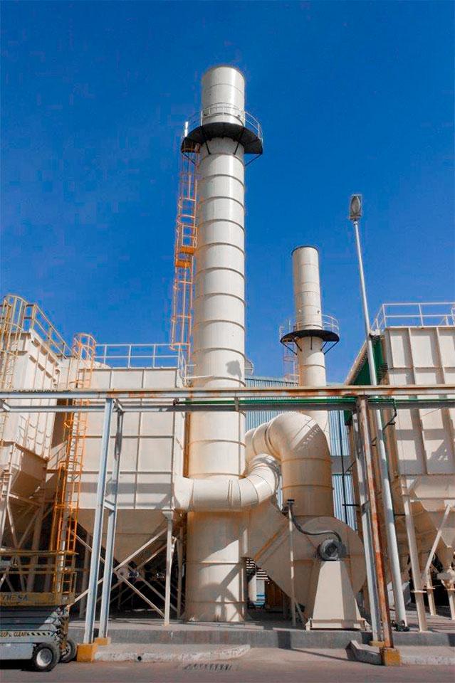 sistema de filtración de contaminantes
