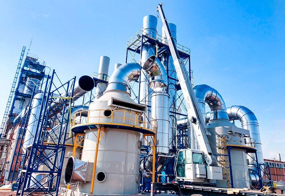 Sistema de depuración de gases indeseables o tóxicos. Lavador de gases