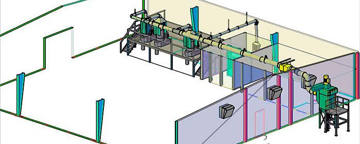 extracción de polvo en la Industria del plástico
