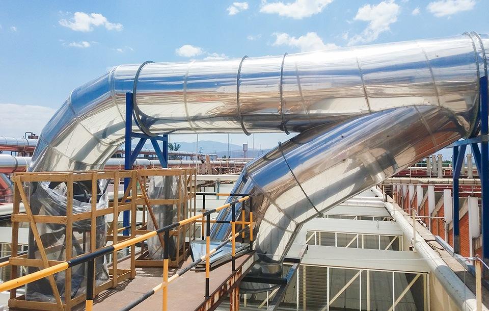 sistemas de ductería industrial