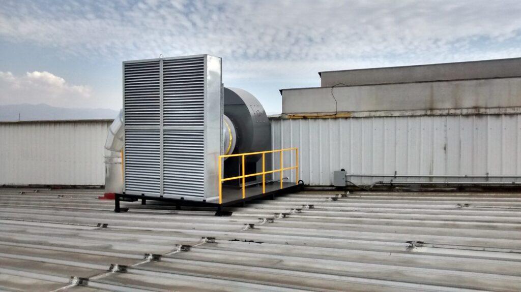 Ventilación industrial general